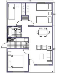 plans for tonight Small House Floor Plans, Small Tiny House, Small House Design, Narrow House, Apartment Plans, Room Planning, Architecture Plan, Bungalows, Small Apartments