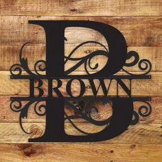 Image of Fancy Monogram - Metal Wall Art/Decor Source by Wall Decor