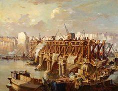 Demolition of Waterloo Bridge, 1935 by Charles Ernest Cundall, 1935
