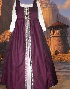 Renaissance Costume Medieval SCA Garb Burgundy by camelots0closet, $47.00
