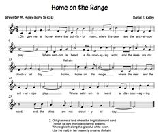 Home On the Range Song | Home on the Range (state song) - lesson ideas