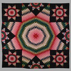 Quilt, Star of Bethlehem--NY Met Museum 1845--Stunning!!!