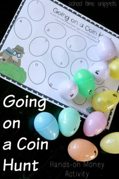 Going on a Coin Hunt is a great, hands-on activity to practice counting coins.   Your child will also partake in a scavenger hunt, which is always a guaranteed fun time and practice writing the amount of change.   Your 1st, 2nd, or 3rd grade child will love this cool math game reinforcing counting coins!