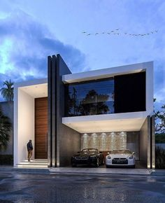 Ideas House Facade Lighting Architecture For 2019 Facade Design, Exterior Design, Archi Design, Modern Buildings, Modern Architecture, Style At Home, Mexican Style Homes, Home Design Software, Facade Lighting