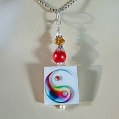 Scrabble Jewelry  Pendant  Yin Yang Color  by MaDGreenCreations, $7.95