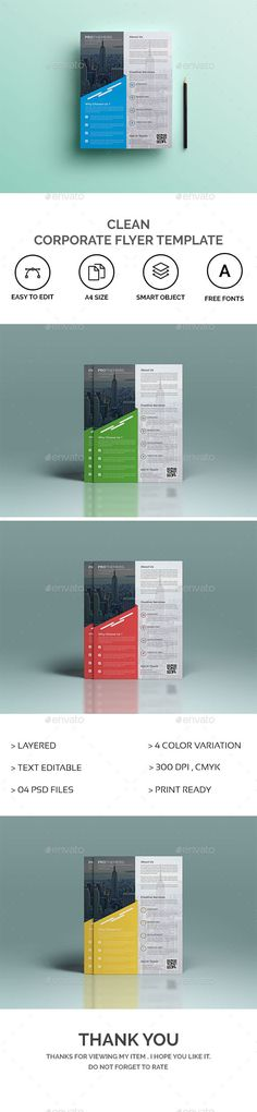Corporate Flyer Flyer template, Business flyers and Adobe - corporate flyer template