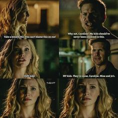 [8×06 - Detoured On Some Random Backwoods Path to Hell] Alaric was rude with Caroline, even if she isn't their biological mom, she raised the girls. Lizzie or Josie ? My edit give credit Alaric And Caroline, Caroline Forbes, Michael Malarkey, Michael Trevino, Vampire Diaries Memes, Vampire Diaries The Originals, Movie Quotes, Tvd Quotes, Malese Jow