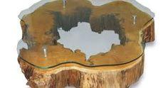 Resultado de imagem para moveis feita de tora de madeira