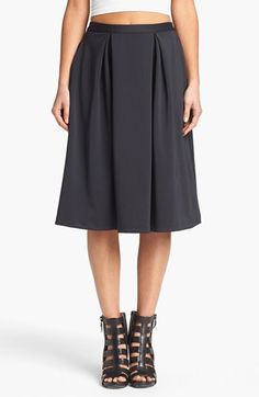 Leith Knee Length Skirt available at #Nordstrom Love this!!!