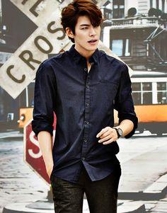"""kpophqpictures: """" [CF] Kim Woo Bin – Giordano F/W 2014 """" Kim Woo Bin, Korean Star, Korean Men, Asian Men, Lee Hyun Woo, Lee Jong Suk, Asian Actors, Korean Actors, Moda Masculina"""