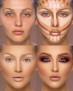 37 Tutorial for pretty makeup for beginners and students 2019 - Beauty Make-Up Make Up Tutorial Contouring, Contouring For Beginners, Makeup Tutorial For Beginners, Make Tutorial, Easy Makeup Tutorial, How To Contour For Beginners, Makeup Hacks For Beginners, Simple Eyeliner Tutorial, Eye Shadow Tutorial