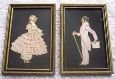 Ribbon paper doll lady lace pictures