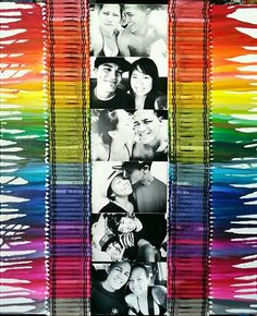 Crayon art with pictures of me and my love.