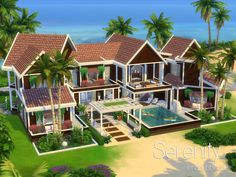 Check out this lot in The Sims 4 Gallery! Sims 4 Modern House, Sims 4 House Design, Minecraft Houses Blueprints, House Blueprints, Big Minecraft Houses, Sims 4 House Building, Sims House Plans, Minecraft Interior Design, Sims Free Play
