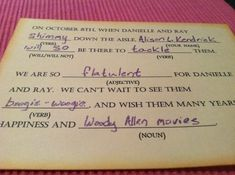 Best RSVP card ever. Could you imagine the replies you would get from your friends...