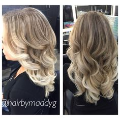Ice blonde ombré! All balayaged. Creates a way nicer effect #blonde #ombre #ashy #hair #summer