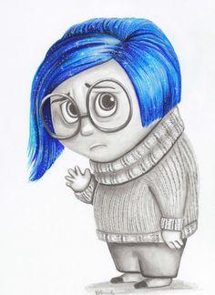 Sadness from inside out-pixar-disney-fan art-character art-drawing-print