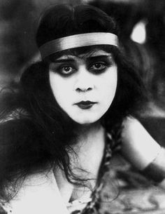 Theda Bara born Theodosia Burr Goodman, (July 29, 1885 – April 7, 1955) was an American silent film and stage actress. Bara was one of the most popular actresses of the silent era, and one of cinema's earliest sex symbols. Her femme fatale roles earned her the nickname The Vamp (short for vampire). Bara made more than 40 films between 1914 and 1926, but most are now lost due to a fire that destroyed the majority of her films in 1937.