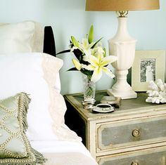 gray-dresser-blue-french-design-bed-side-night-stand-bed-room-decor-ideas-home-decorating