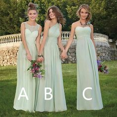 Green Bridesmaid Dresses, Wedding Dresses, Lace Evening Dresses, Body Shapes, Hemline, Chiffon, Elegant, Fashion, Bridal Gowns