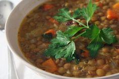 Lentil Soup (Čočková polévka)