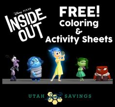 Disney Pixar Inside Out Free Coloring and Activity Sheets