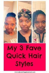 3 Fave Quick Starter Loc Hair Styles for Me- All Over the Place Mom. #dreadlocks #locstyles #starterlocs #quickhairstyles #busymoms #naturalhair #naturalhairstyles #locs