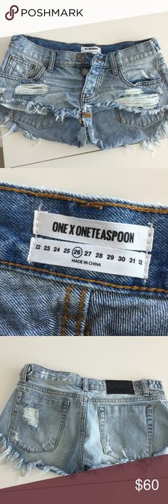 One teaspoon shorts Worn once. Great condition. One Teaspoon Shorts Jean Shorts