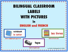 Are you ready to create a print rich environment in your classroom? This set includes 67 labels for around the classroom. There are 3 options for you. One set has the word in BOTH English and French. (in 2 different colors!)The other two options have the word in English only and a set in French o......