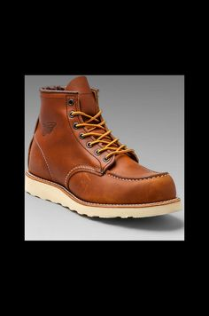 """Red Wing Shoes Classic 6"""" Moc en Oro-iginal 