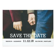 Whimsical Chic Save The Date Photo 5x7 Paper Invitation Card