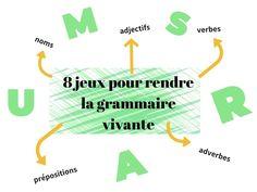 8 jeux pour rendre la grammaire vivante Chart, Grammar Games, Kids Study