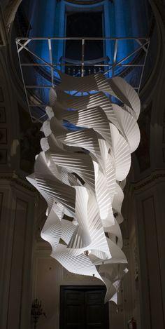 Column - paper sculpture by Richard Sweeney