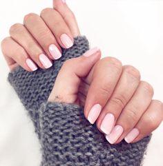 nude american french nails by@wyjdz_z_pazurem