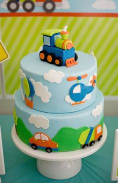 Birthday Cake Designs For Baby Boy - Share this image!Save these birthday cake designs for baby boy for later by share thi Toddler Birthday Cakes, Baby Boy Birthday Cake, Baby Boy Cakes, Birthday Party Themes, Birthday Ideas, 2nd Birthday Cake Boy, Train Birthday Party Cake, Birthday Celebration, Thomas Birthday Cakes