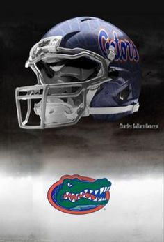 """Florida Gator Nike Pro Combat Helmet Concept.""   Click in to see more concept helmets for the SEC."