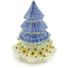 Polish Pottery 7-inch Christmas Tree | Boleslawiec Stoneware | Polmedia H5268G | Polmedia