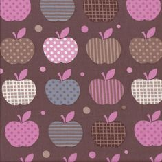 Apples for Teacher - Brown - Stenzo Poplin
