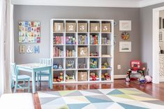 Bright and Bold Modern Playroom - Project Nursery