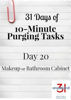 Junk Cabinet Organization - Day 20 Purging Tips Makeup & Bathroom Cabinet Bathroom Cabinet Organization, Home Organization Hacks, Bathroom Cabinets, Cabinet Storage, Organizing Ideas, Organising, Makeup Organization, Bathroom Storage, Junk Drawer Organizing