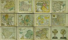Collection1 of 12 vintage images pictures Maps 1737s от UnoPrint
