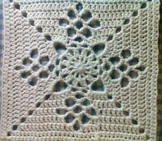 My Version of Victorian Lattice Square by Destany Wymore on Ravelry (Version white) additional Square for Moogly 2015 CAL. Crochet Blocks, Crochet Squares, Crochet Granny, Filet Crochet, Crochet Motif, Crochet Doilies, Knit Crochet, Crochet Crafts, Crochet Projects