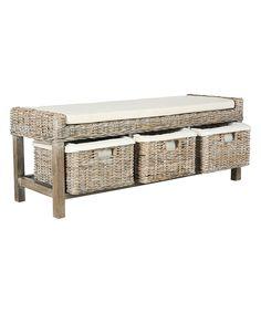 Love this White Wood Tamsin Storage Bench by Safavieh on #zulily! #zulilyfinds