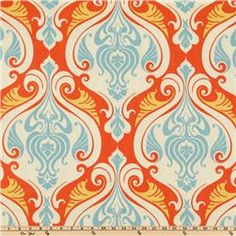 Use for glider cushions in my room?  Or dining room chair recovers?  http://www.fabric.com/home-decor-fabric-outdoor-fabric-indoor-outdoor-classic-traditional-fabric-waverly-sun-n-shade-sea-scallop-coral-reef.aspx