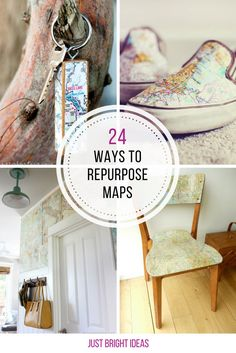 Who knew there were so many genius ways to repurpose maps! Thanks for sharing!