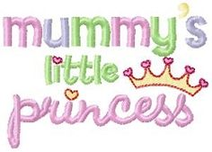 Mummy & Daddy's Prince and Princess, SWAK Pack - 2 Sizes! | Princess | Machine Embroidery Designs | SWAKembroidery.com Bunnycup Embroidery