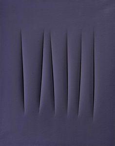 mentaltimetraveller:  Lucio Fontana, Concetto spaziale, 1965