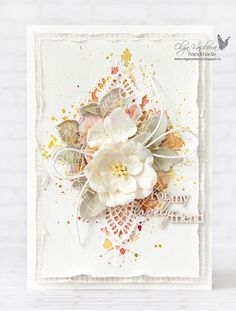 card vintage flowers leaves prima doily Scrap story ...