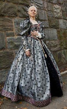 Elizabethan Blue/Silver Gown