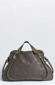 Chloé 'Paraty-Large' Calfskin Leather Satchel